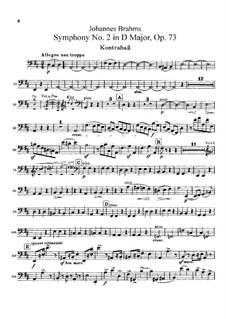 Vollständiger Satz: Kontrabassstimme by Johannes Brahms