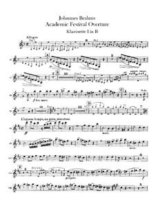 Akademische Festouvertüre, Op.80: Klarinettenstimmen by Johannes Brahms