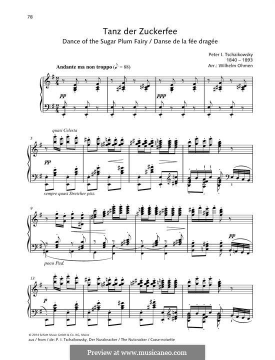 Nr.3 Tanz der Zuckerfee, für Klavier: Für einen Interpreten by Pjotr Tschaikowski