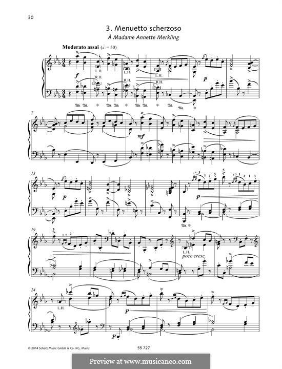 Sechs Stücke für Klavier, TH 143 Op.51: No.3 Menuetto scherzoso by Pjotr Tschaikowski