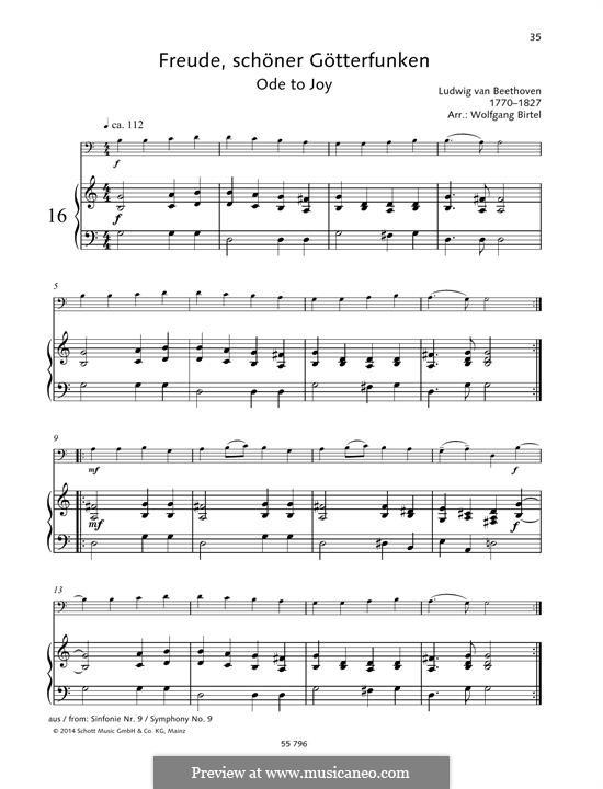 Ode an die Freude: Version für Cello und Klavier by Ludwig van Beethoven