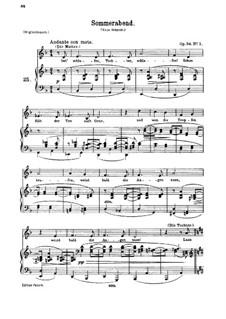 Romanzen und Lieder, Op.84: Nr.1 Sommerabend by Johannes Brahms
