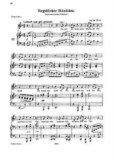 Romanzen und Lieder, Op.84: Nr.4 Vergebliches Ständchen by Johannes Brahms