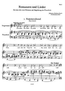 Romanzen und Lieder, Op.84: Vollsammlung by Johannes Brahms