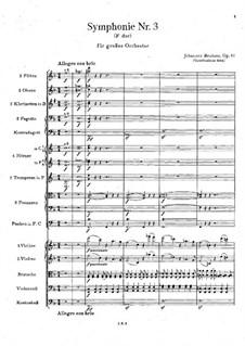 Teil I: Partitur by Johannes Brahms
