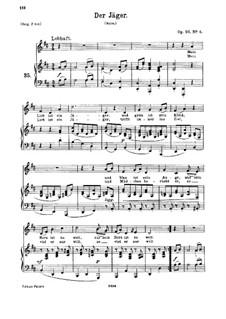 Sieben Lieder, Op.95: Nr.4 Der Jäger by Johannes Brahms