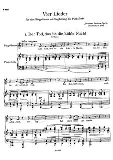 Vier Lieder, Op.96: Vollsammlung by Johannes Brahms