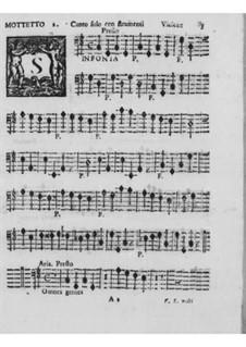 Motetten und Antiphonen für Stimme, Streicher und Orgel, Op.7: Violone- und Theorbestimmen by Pirro Capacelli Conte Albergati