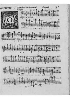 Motetten und Antiphonen für Stimme, Streicher und Orgel, Op.7: Orgelstimme by Pirro Capacelli Conte Albergati