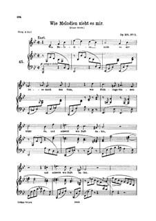 Fünf Gesänge, Op.105: Nr.1 Wie Melodien zieht es mir (B-Dur) by Johannes Brahms