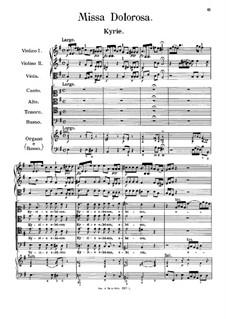 Missa Dolorosa: Missa Dolorosa  by Antonio Caldara