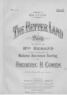 The Better Land: C-Dur by Frederic Hymen Cowen