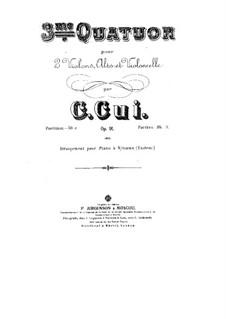 Streichquartett Nr.3 in Es-Dur, Op.91: Stimmen by César Cui