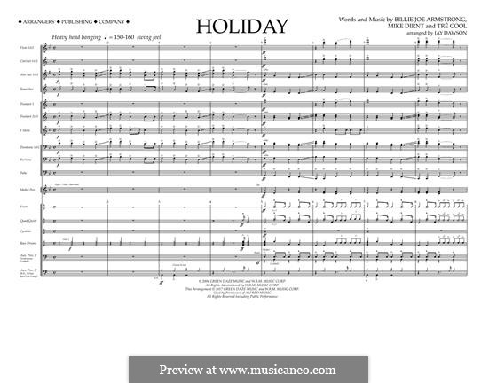 Holiday (Green Day): Vollpartitur by Billie Joe Armstrong, Tré Cool, Michael Pritchard