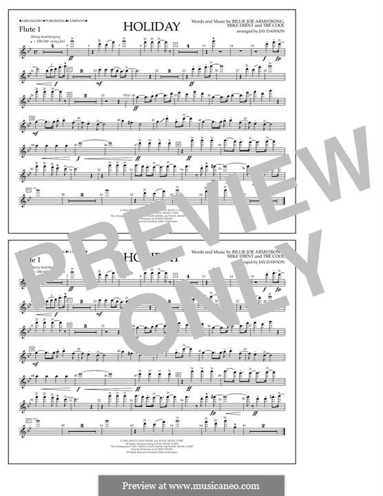 Holiday (Green Day): Flute 1 part by Billie Joe Armstrong, Tré Cool, Michael Pritchard