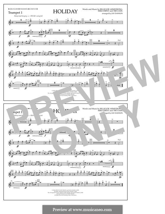 Holiday (Green Day): Bb Trumpet 1 part by Billie Joe Armstrong, Tré Cool, Michael Pritchard