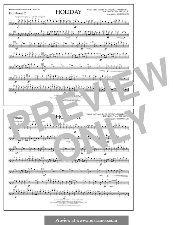Holiday (Green Day): Trombone 2 part by Billie Joe Armstrong, Tré Cool, Michael Pritchard