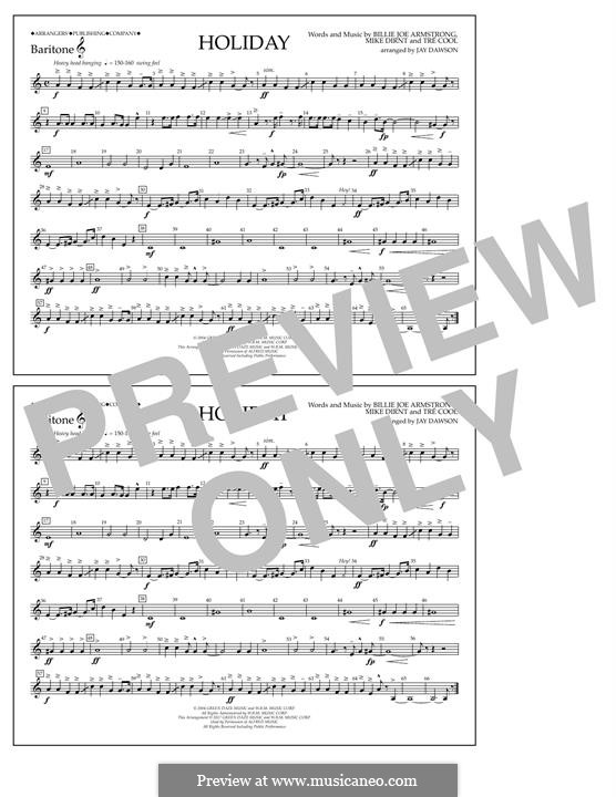 Holiday (Green Day): Baritone T.C. part by Billie Joe Armstrong, Tré Cool, Michael Pritchard