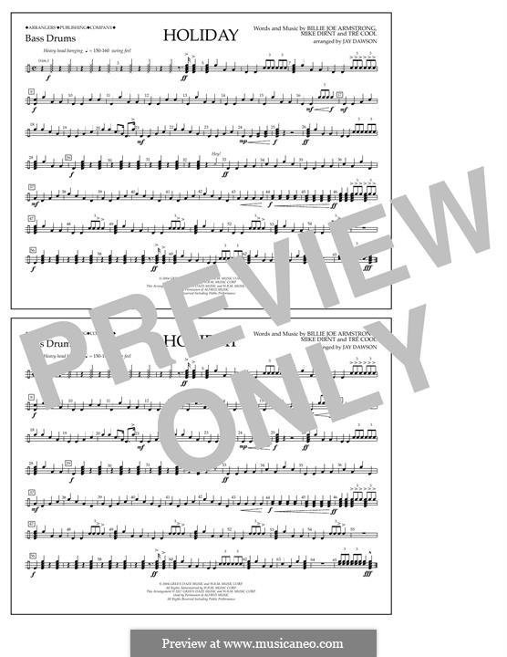 Holiday (Green Day): Bass Drum part by Billie Joe Armstrong, Tré Cool, Michael Pritchard