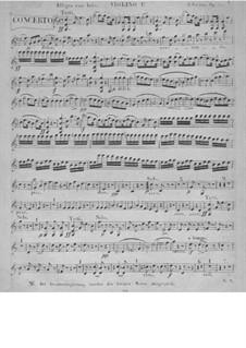 Konzertfür Klavier, vierhändig und Orchester in C-Dur , Op.153: Stimmen by Carl Czerny