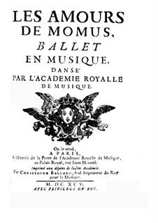 Les amours de Momus: Libretto by Henri Desmarets