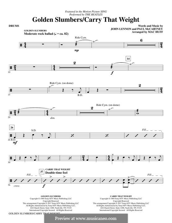 Golden Slumbers / Carry That Weight / The End: Drums part by John Lennon, Paul McCartney