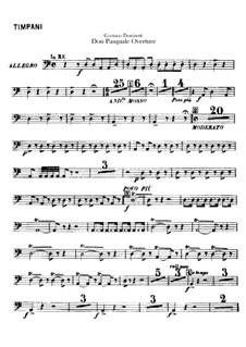 Don Pasquale: Ouvertüre – Schlagzeugstimmen by Gaetano Donizetti