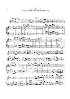 Die Regimentstochter: Ouvertüre – Flötenstimmen by Gaetano Donizetti