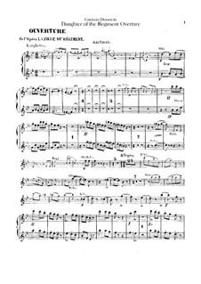 Die Regimentstochter: Ouvertüre – Oboenstimmen by Gaetano Donizetti