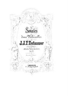 Drei Sonaten für zwei Cellos, Op.103: Cellostimme I by Friedrich Dotzauer