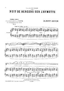 Poèmes grecs für Flöte und Klavier: Partitur by Albert Doyen