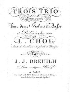 Drei Trios für zwei Violinen und Cello: Cellostimme by Jean Jacques Dreuilh
