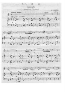 Les millions d'Arlequin: Serenade, für Violine und Klavier by Riccardo Drigo