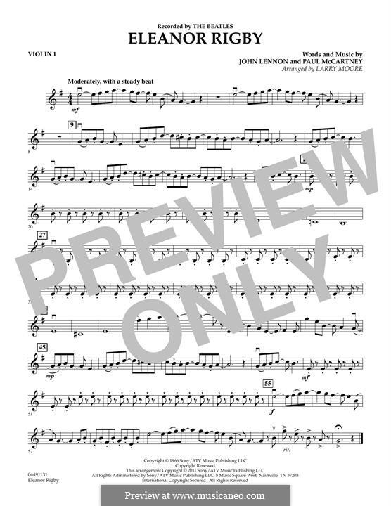 Eleanor Rigby (The Beatles): Violin 1 part by John Lennon, Paul McCartney