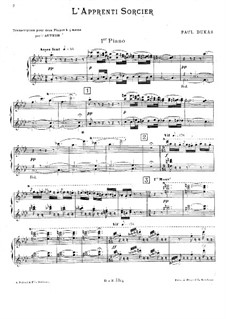 Der Zauberlehrling: Für zwei Klaviere, vierhändig by Paul Dukas