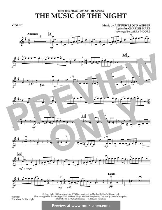 The Music of the Night: Violin 1 part by Andrew Lloyd Webber
