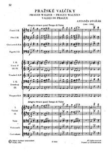 Prager Walzer, B.99: Prager Walzer by Antonín Dvořák