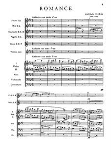 Romanze in f-Moll, B.39 Op.11: Vollpartitur by Antonín Dvořák