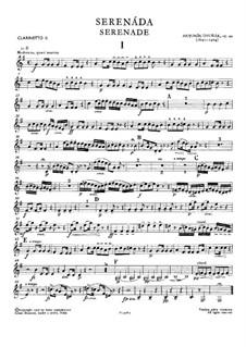 Serenade in d-Moll, B.77 Op.44: Klarinettenstimme II by Antonín Dvořák