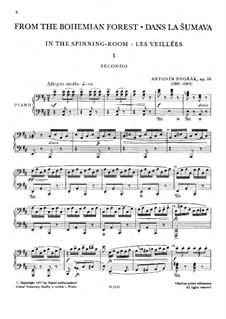 Aus dem Böhmerwald, B.133 Op.68: Erste Stimme, Zweite Stimme by Antonín Dvořák