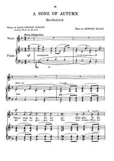 Sieben Lieder: Nr.3 Herbstlied by Edward Elgar