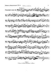 Reges Tharsis et insulae munera, HV 107: Orgelstimme by Joseph Eybler