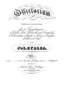 Timebunt gentes nomen tuum Domine, HV 87: Stimmen by Joseph Eybler