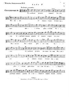 Timebunt gentes nomen tuum Domine, HV 87: Alto I part by Joseph Eybler