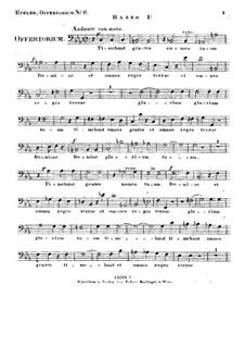 Timebunt gentes nomen tuum Domine, HV 87: Bass I part by Joseph Eybler