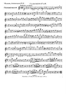 Timebunt gentes nomen tuum Domine, HV 87: Klarinettenstimme I by Joseph Eybler