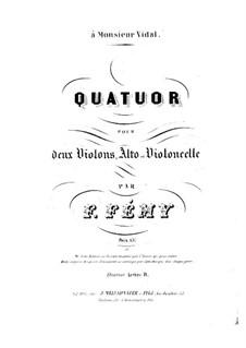 Streichquartett in D-Dur: Violinstimme I by François Fémy