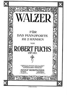 Zwölf Walzer, Op.110: Für Klavier by Robert Fuchs