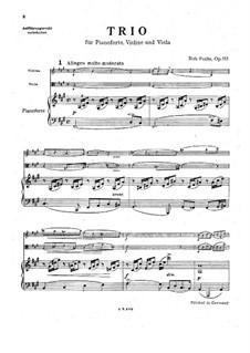 Klaviertrio in fis-Moll, Op.115: Klaviertrio in fis-Moll by Robert Fuchs