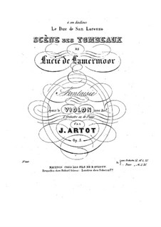 Fantasie über Themen aus 'Lucie de Lamermoor' von Donizetti, Op.5: Solostimme by Alexandre Joseph Artôt